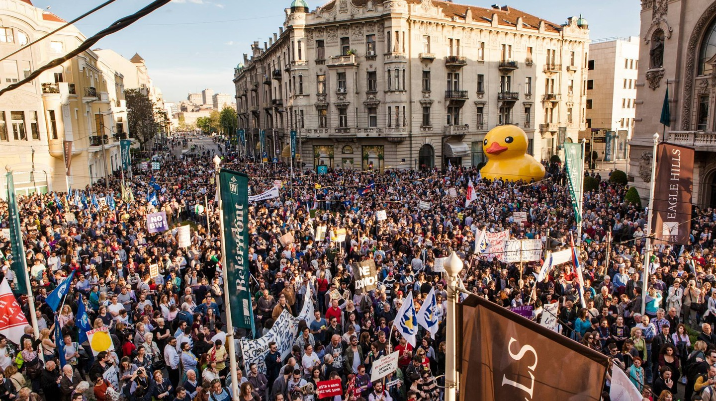 The protests against the Belgrade Waterfront
