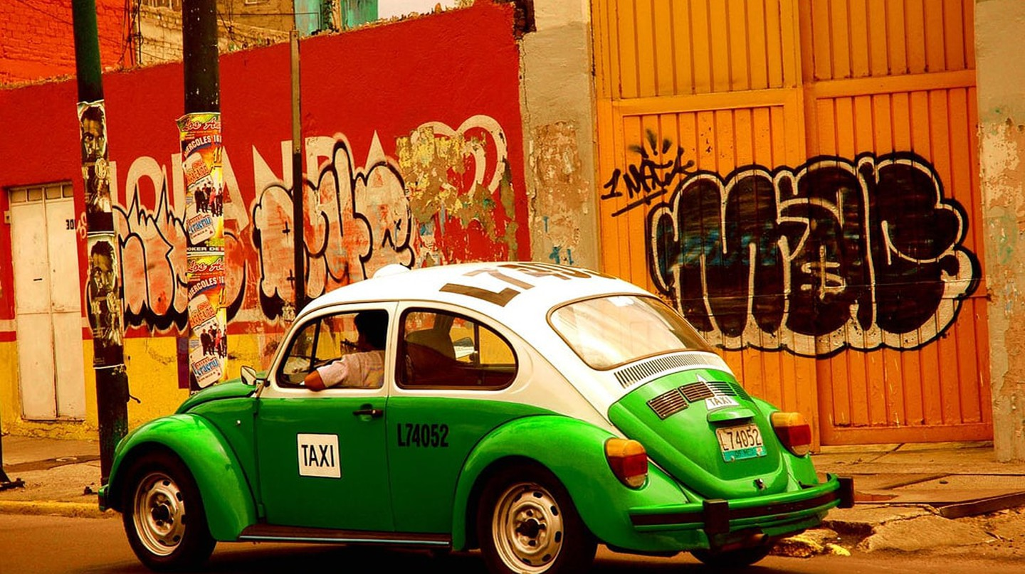 An old Mexico City taxi