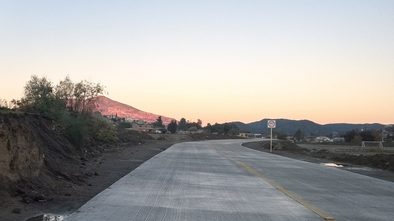 A road cutting through Tecate