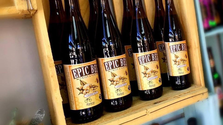 Homebrewed beer at Café Epico
