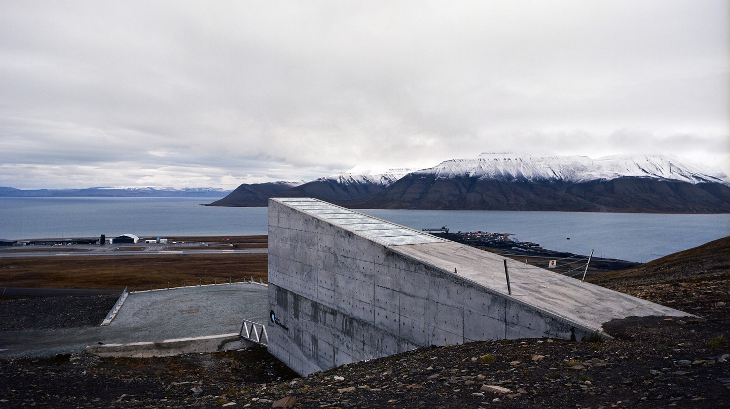 The Svalbard Seed Vault on a rare non-snowy day