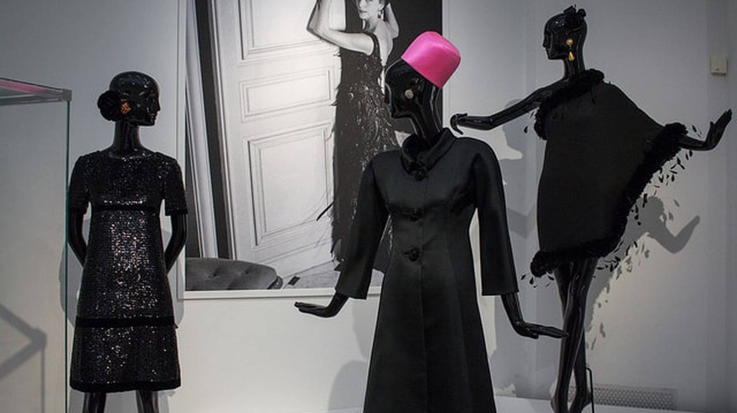 Givenchy dresses on display at the 'Hubert de Givenchy' exhibition