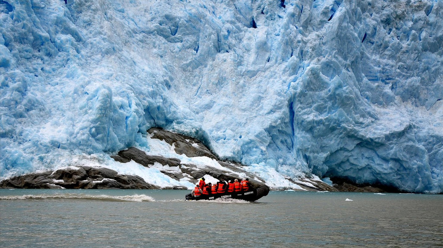 Glacier in the Chilean fjords