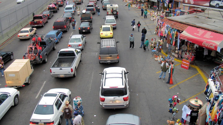 Traffic jam at San Ysidro