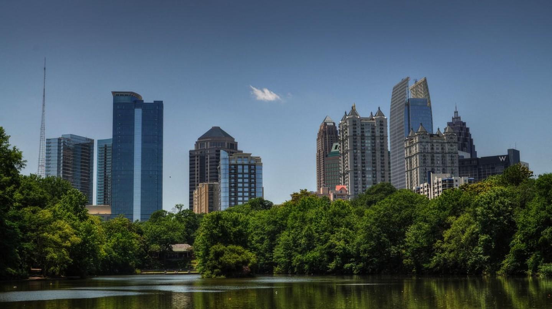 Architectural landscape in Atlanta