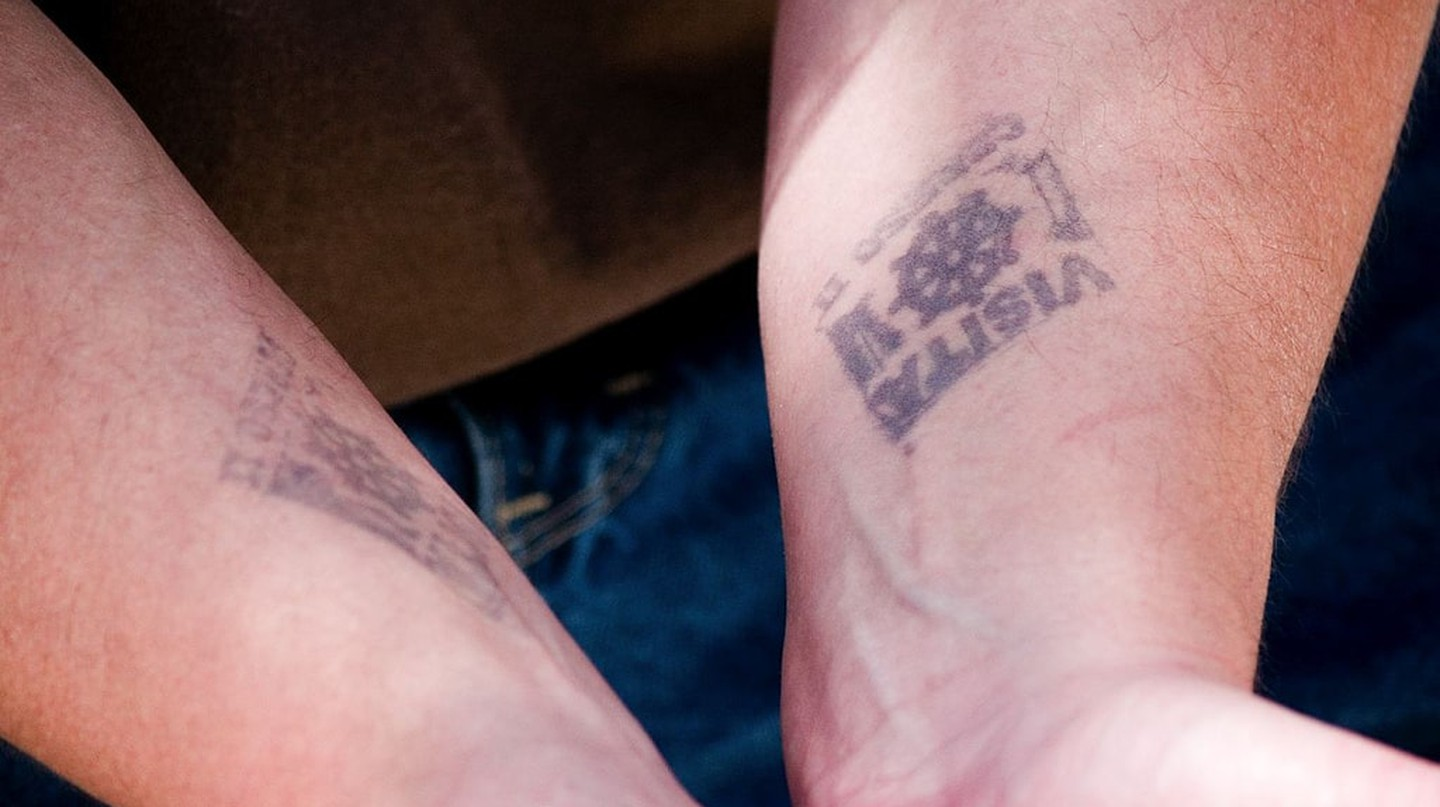 Visitor stamps from a prison in Nogales, Mexico