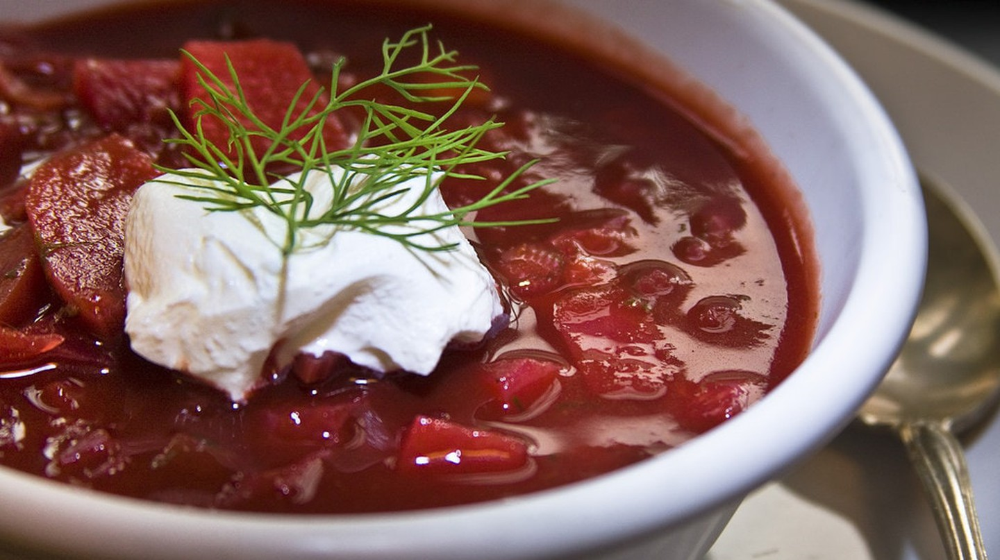 Traditional Ukrainian borscht