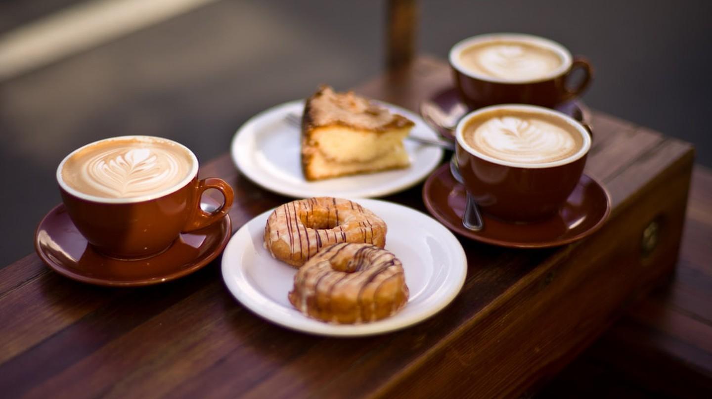 Sweet treats and coffee