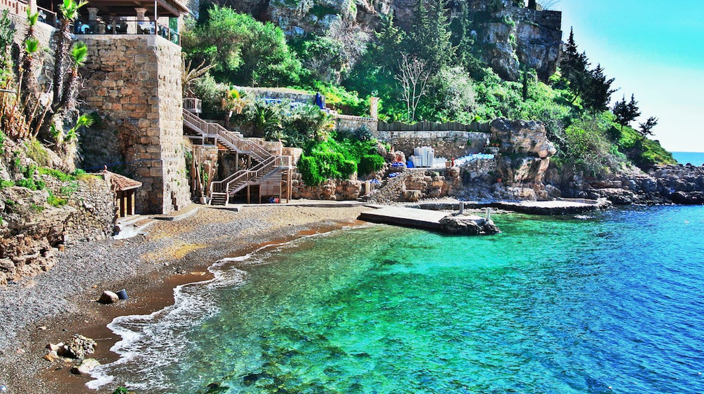 A stunning bay in Antalya in the summer