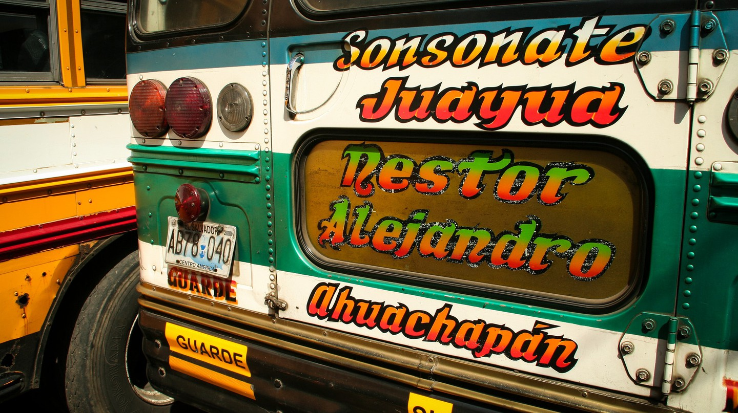 Bus sign in El Salvador
