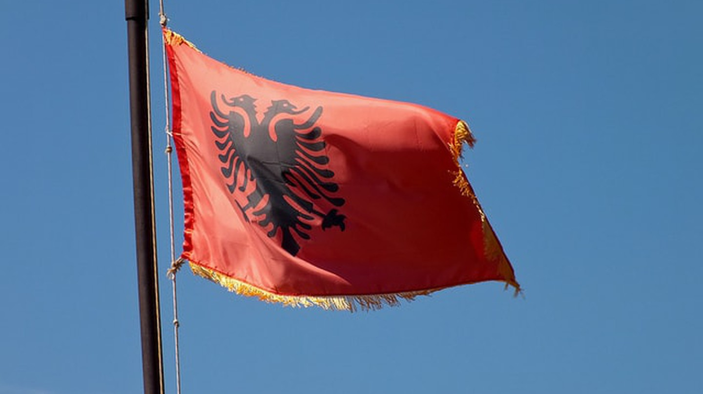 Albanian National Flag| © Michael Button/Flickr