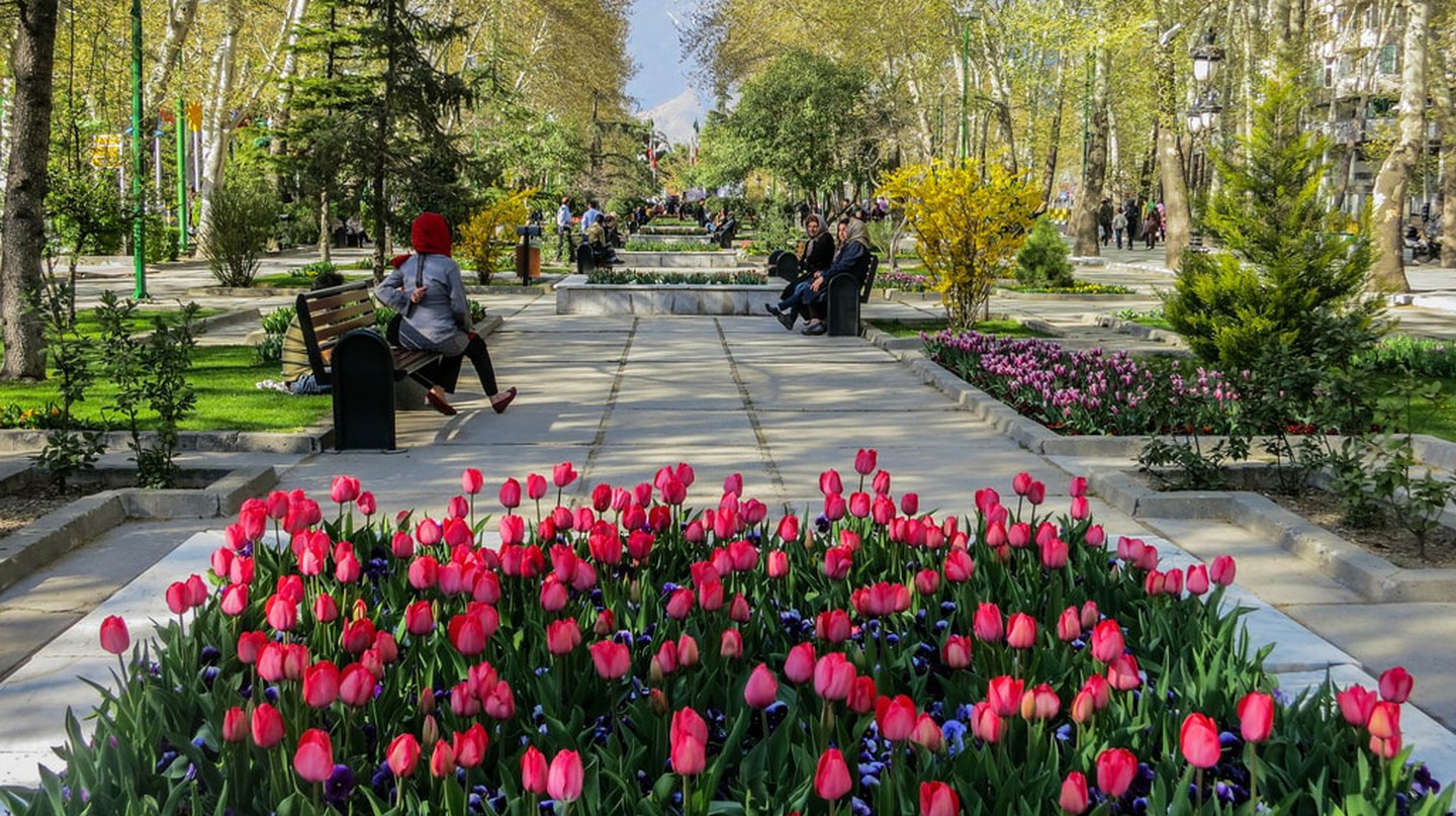 Mellat Park is a peaceful respite in Tehran