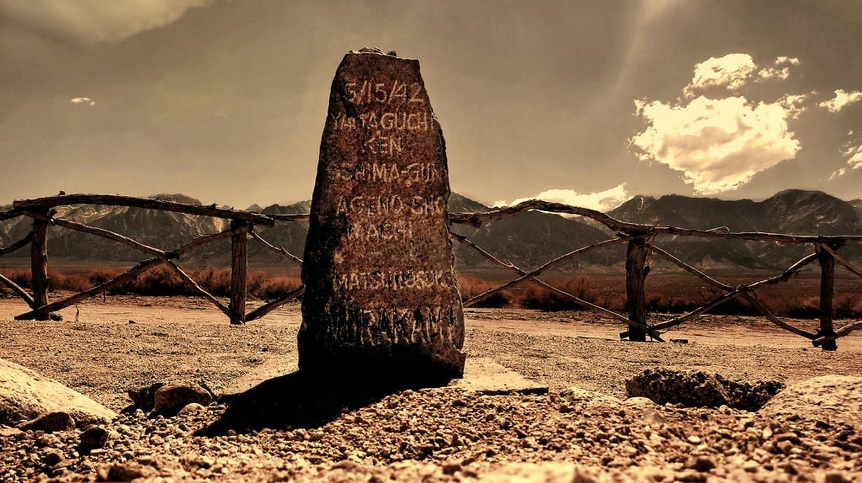 The grave of Matsunosuke Murakami; Manzanar Japanese Internment Camp