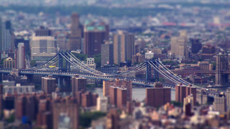 Manhattan Bridge Tilt-Shift