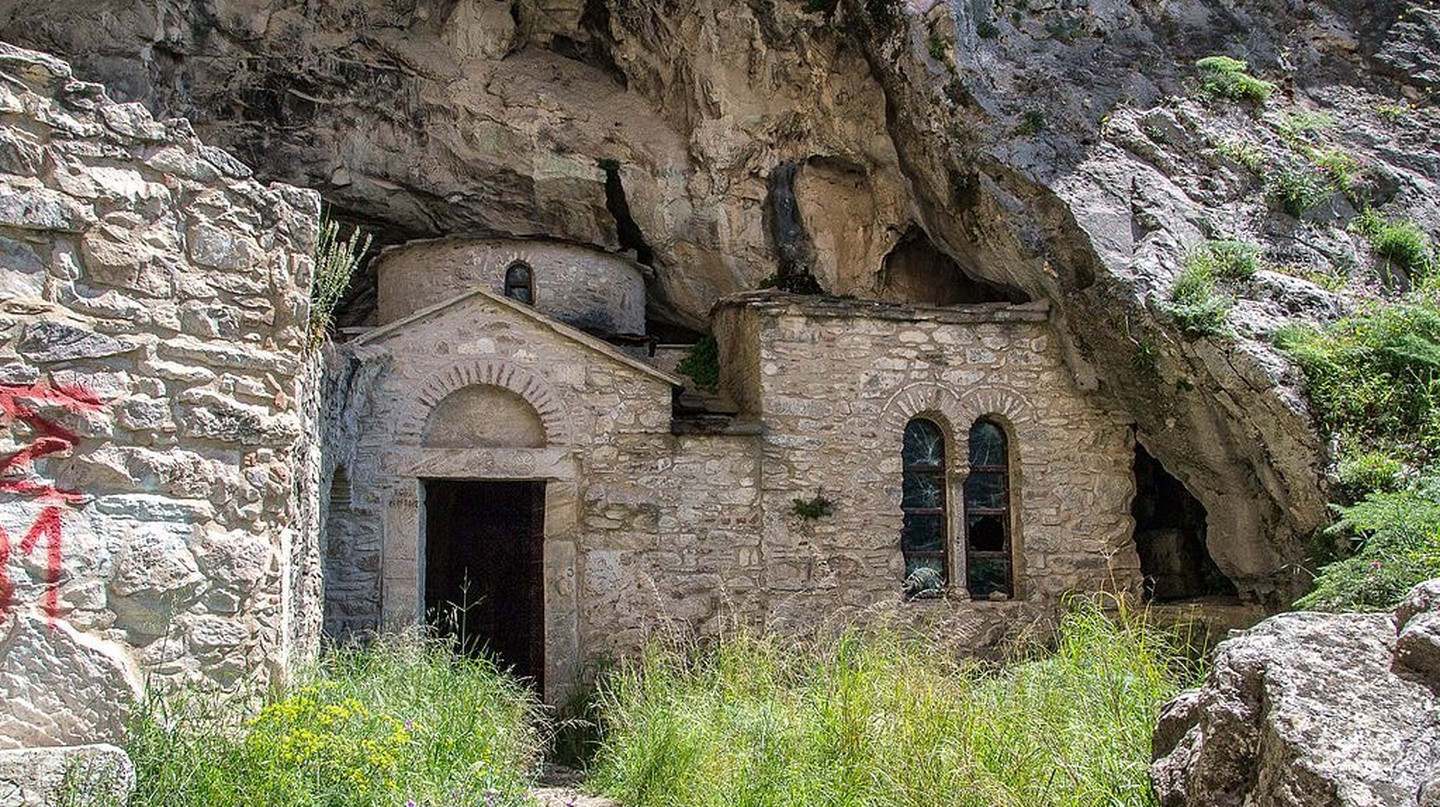 Byzantine church at Davelis Cave