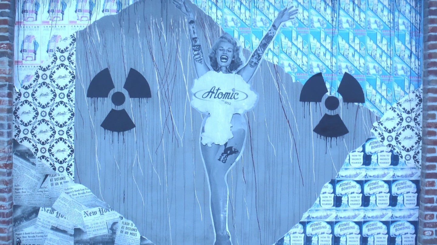 Mural outside the Kitchen at Atomic, Las Vegas