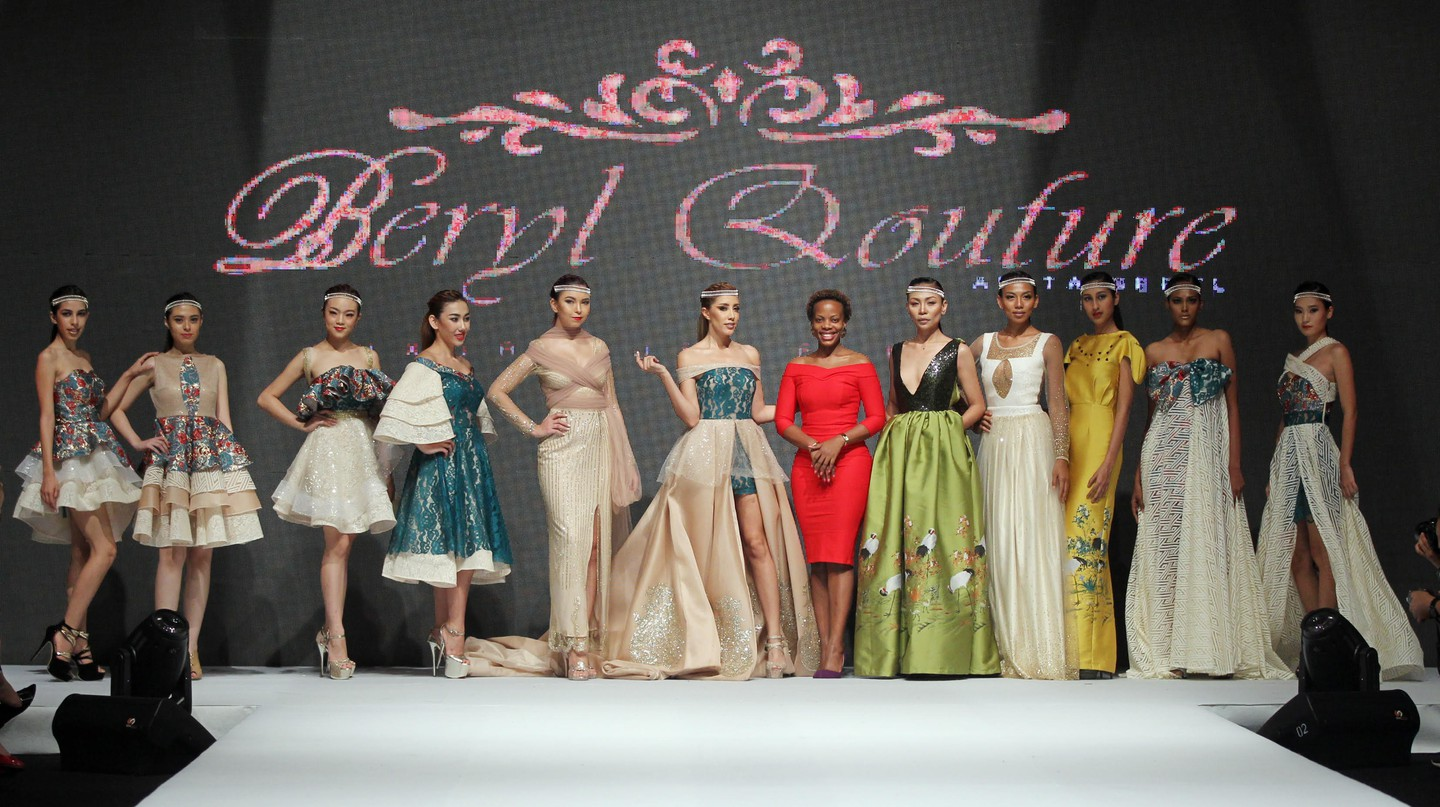 Anita Beryl showcasing Beryl Qouture | Courtesy Photo Beryl Qouture