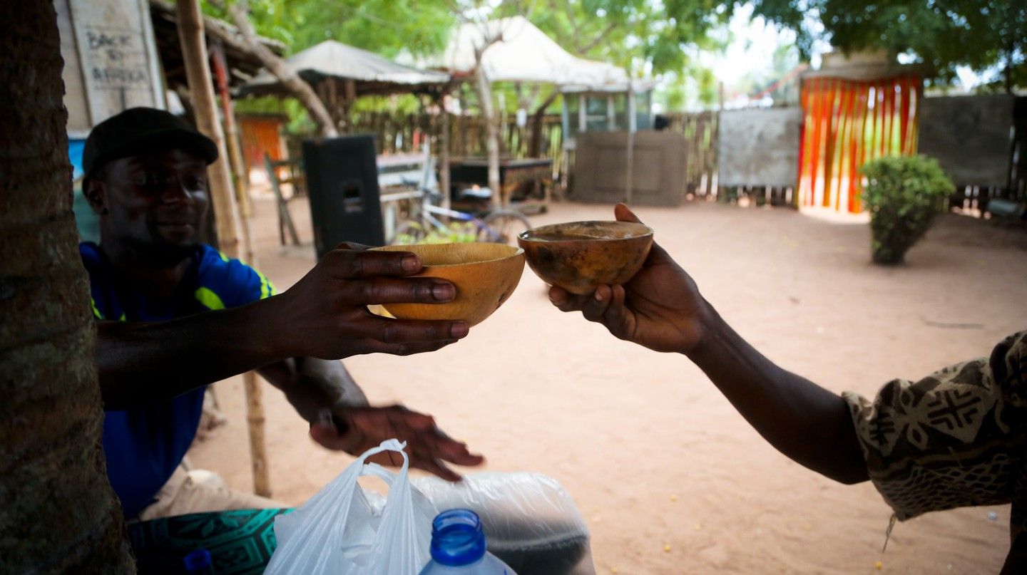In Ghana, pito is a social unifier served in calabashes