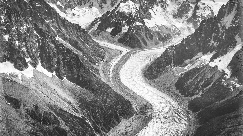 A photo of the Alps taken by Eduard Spelterini in 1909 |© Eduard Spelterini/WikiCommons