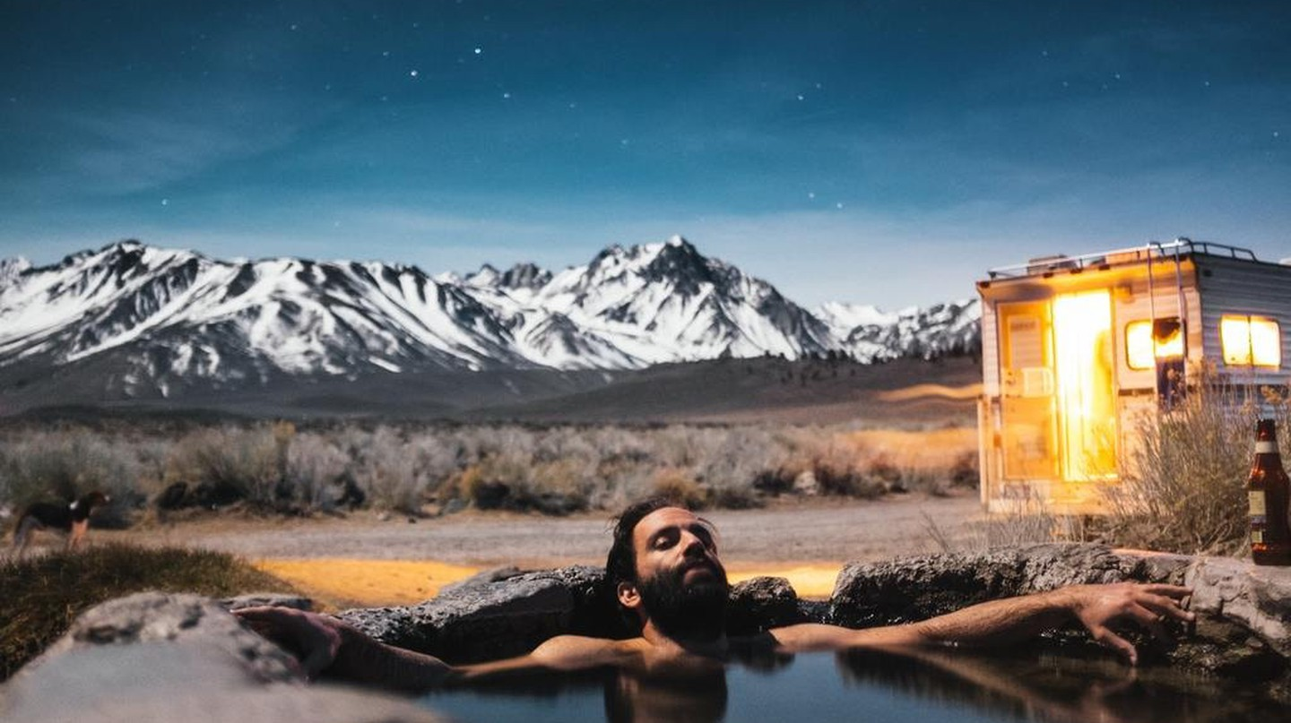 Soaking in a hot spring is offers multiple health benefits.