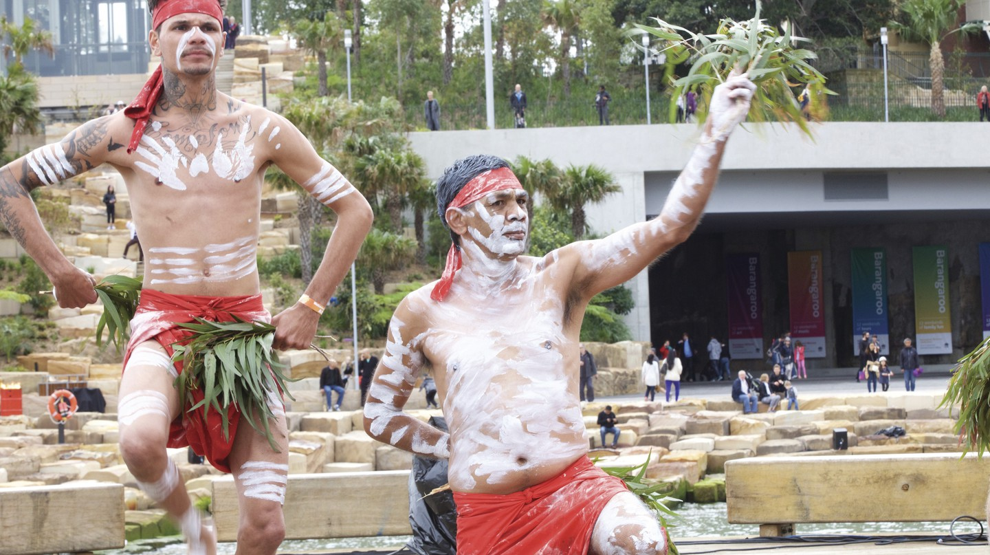 Indigenous ceremony in Barangaroo, Sydney