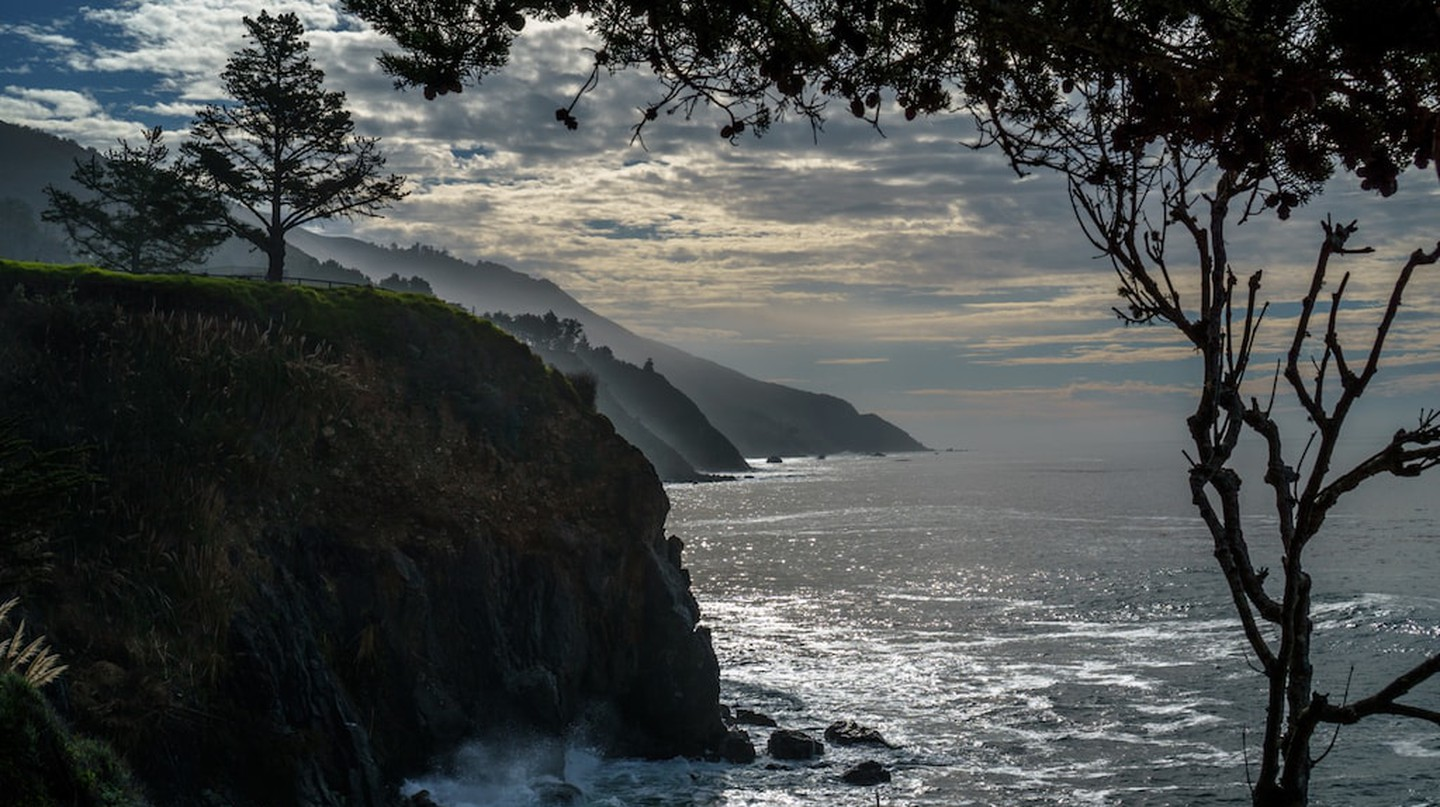 The view from the Esalen Institute in Big Sur