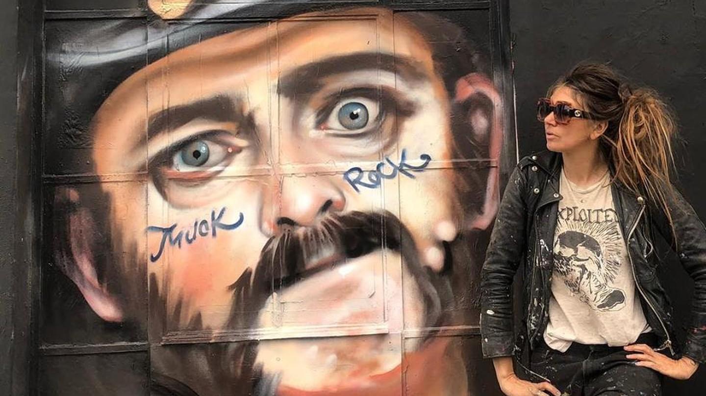 A mural of Lemmy