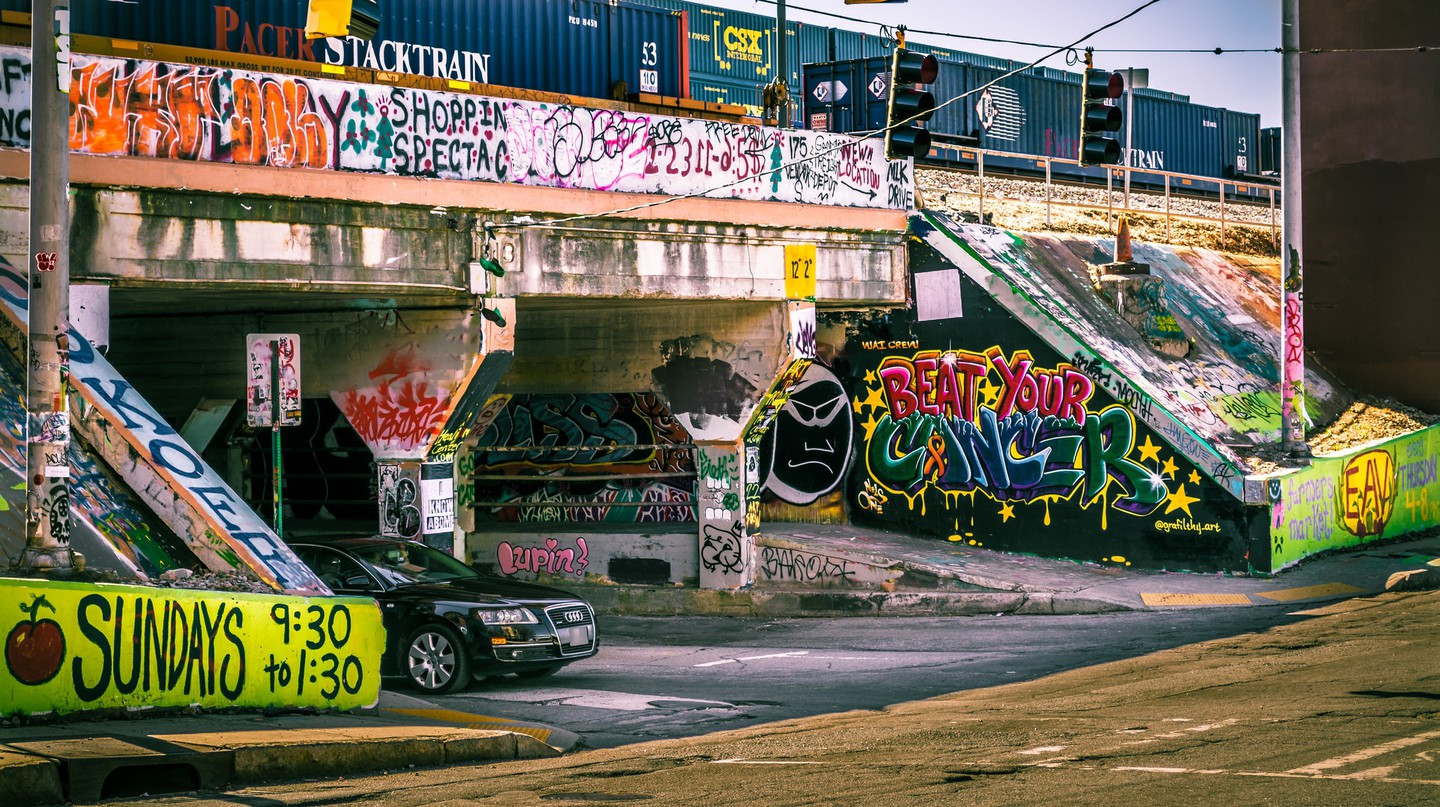 Entrance of famous Krog Street Tunnel