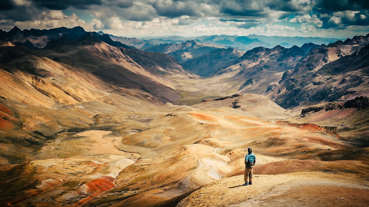 Hike remote mountains in Peru