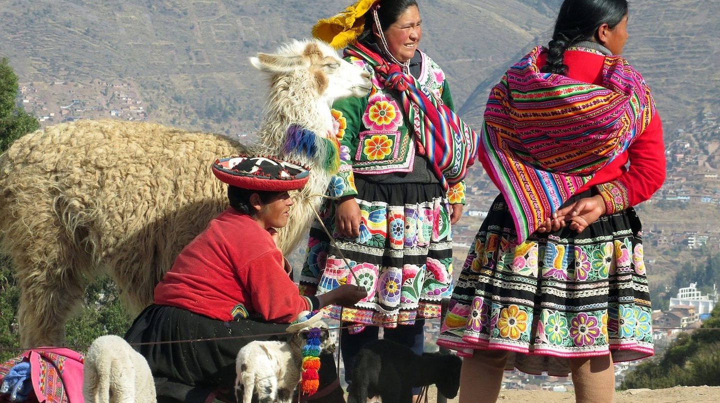Traditional Peruvian dresses