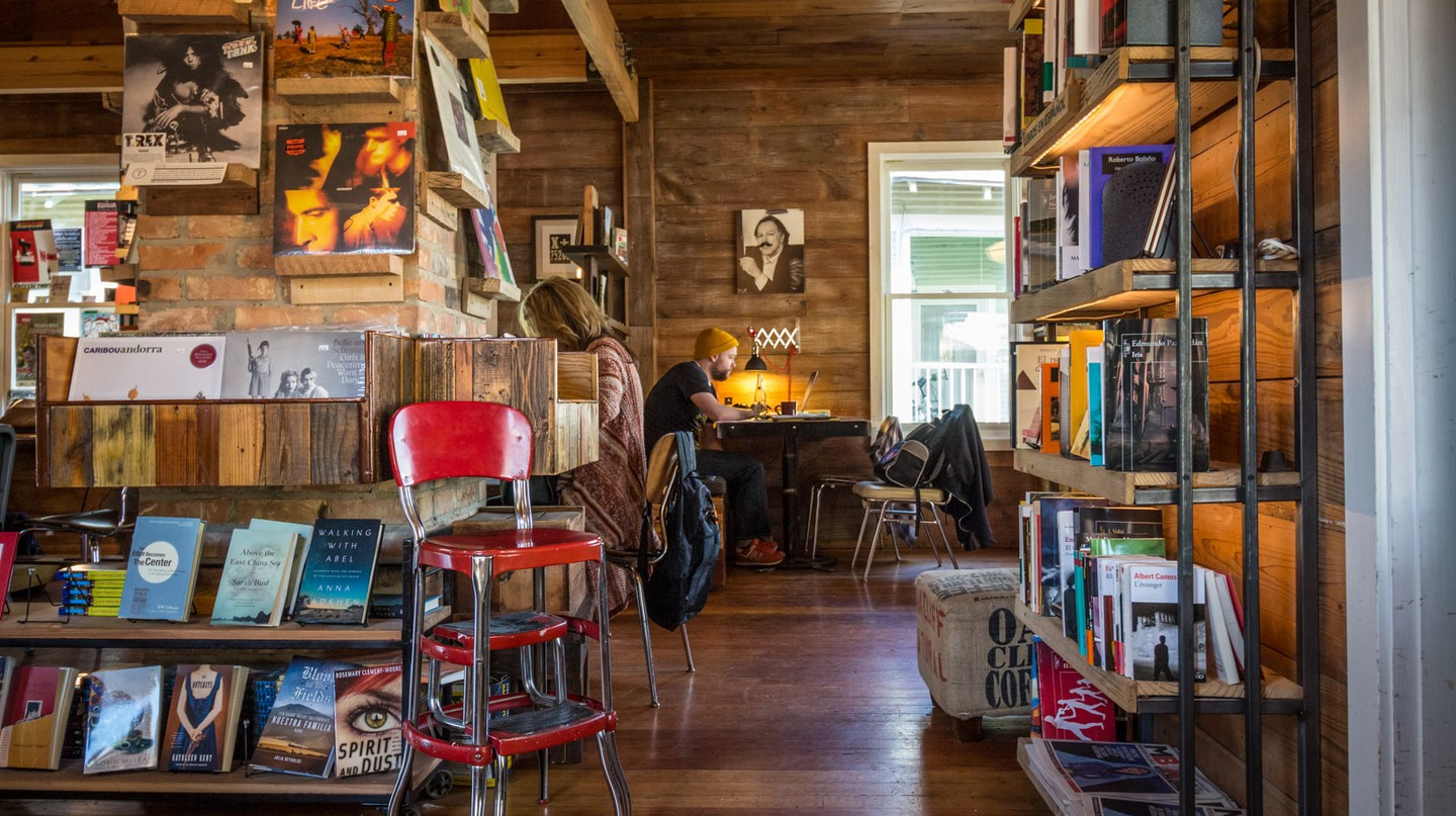 The Wild Detectives is a rustic bookstore with diverse titles of books and records for sale