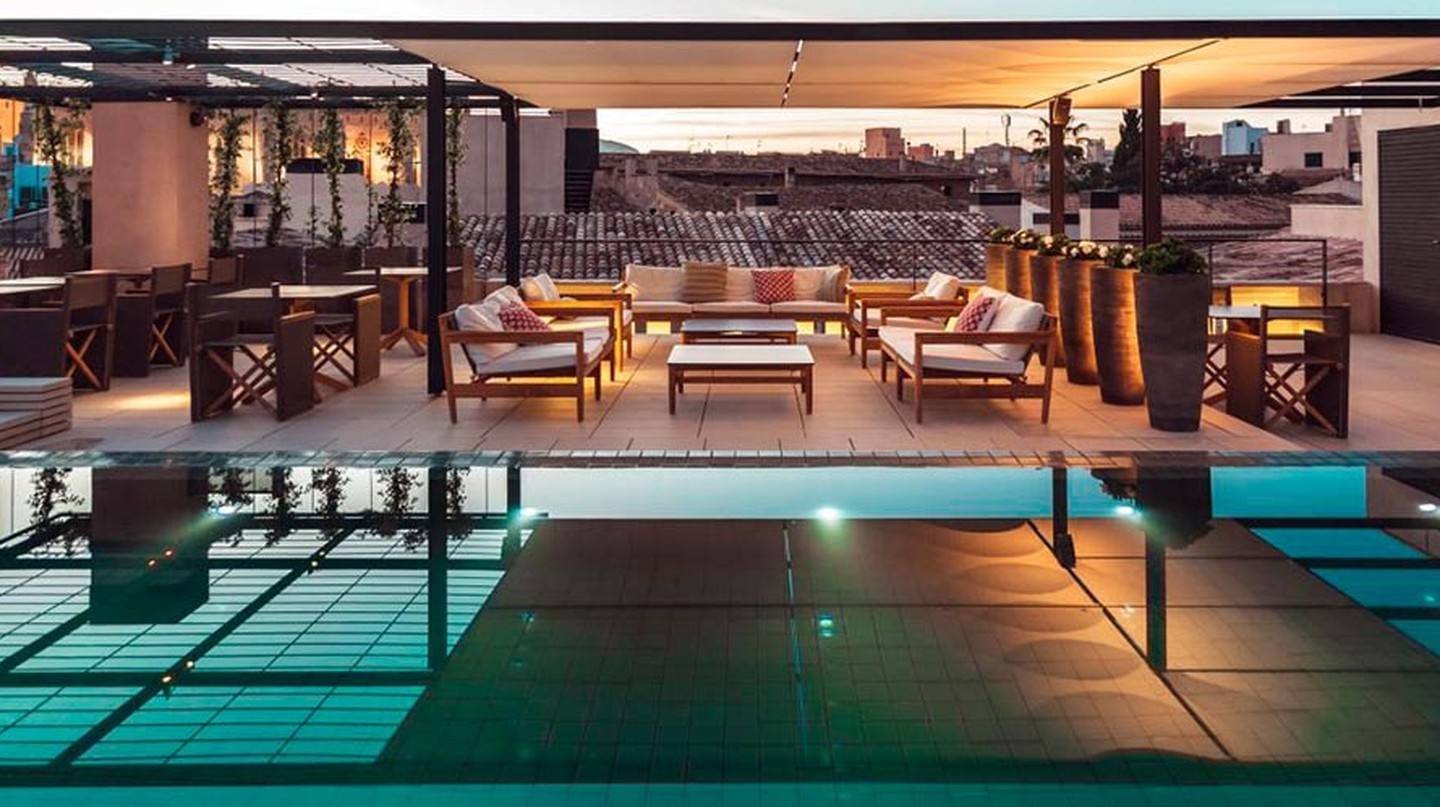 Rooftop pool at the Hotel Sant Francesc