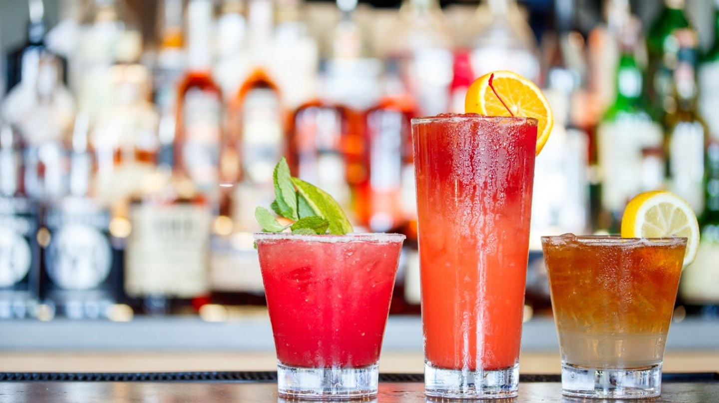 Fruity cocktail drinks
