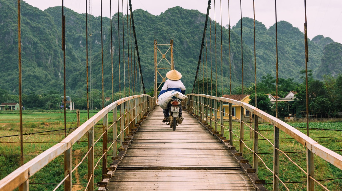 Vietnam offers plenty of ideal motorbike routes.