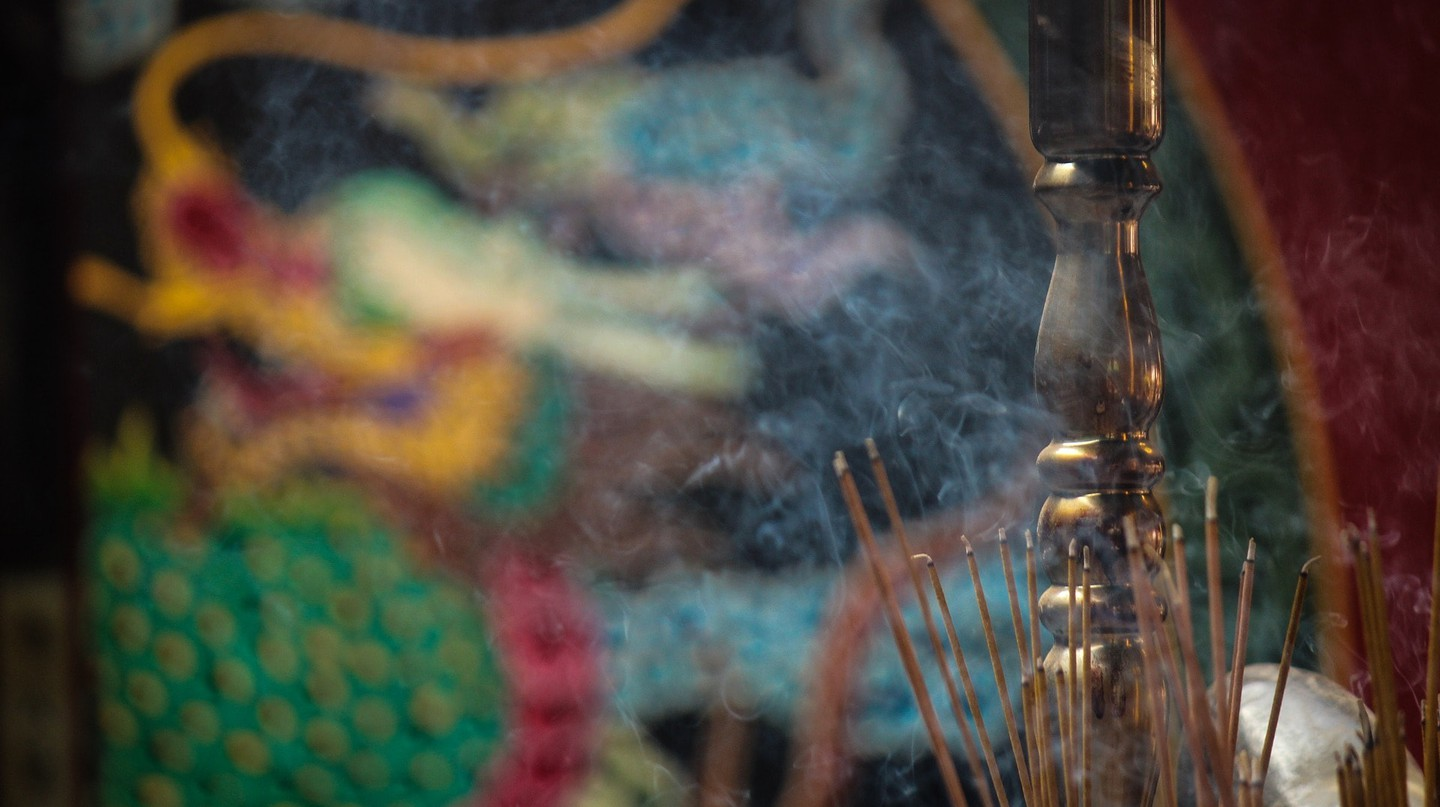 Incense is often burned during Cambodian festivals