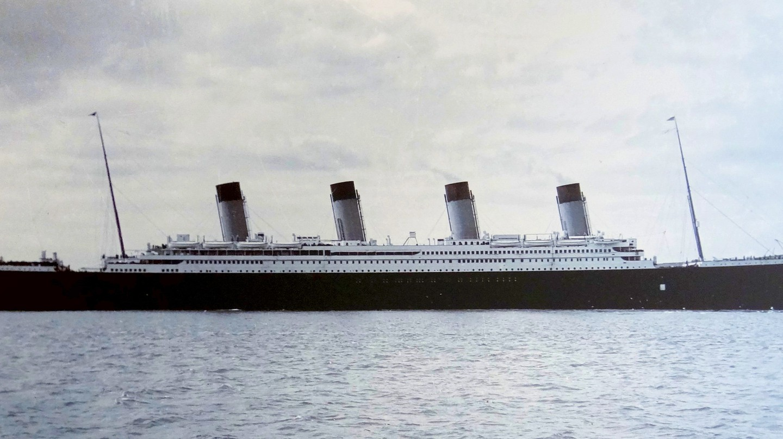 The Titanic pictured at Cobh Harbour