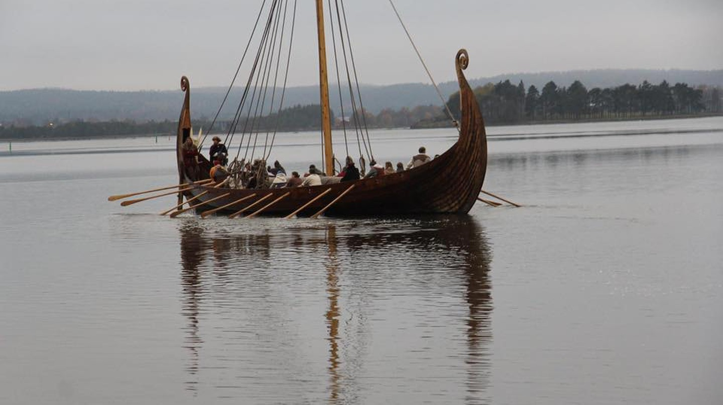 Full-scale copy of Oseberg Viking Ship