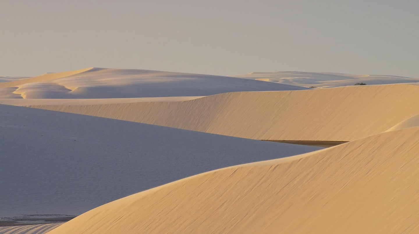 The soft colors of Lençóis Maranhenses in Brazil