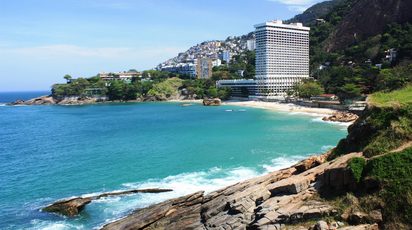 The Sheraton Grand in Rio de Janeiro with its stunning ocean views