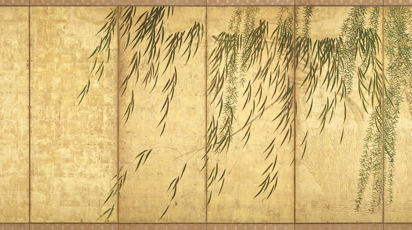 Hasegawa Tōhaku, Willows in Four Seasons (right panel), late 16th century (Momoyama period). London Gallery, Tokyo | Courtesy of the Japan Society.