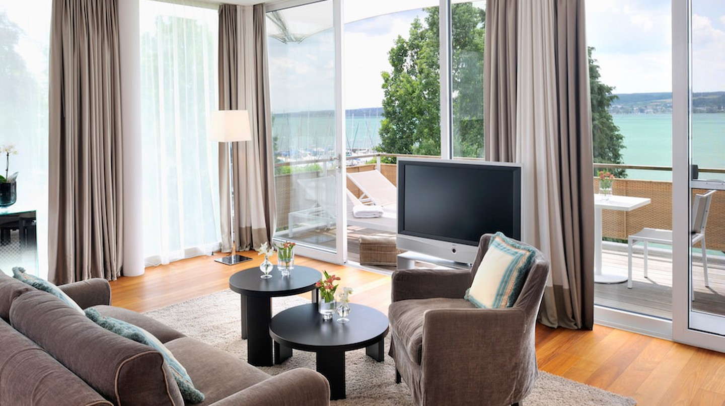 A breezy room with a view of Lake Constance