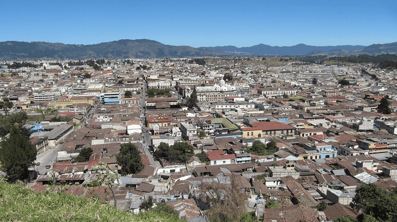Panoramic shot of Xela