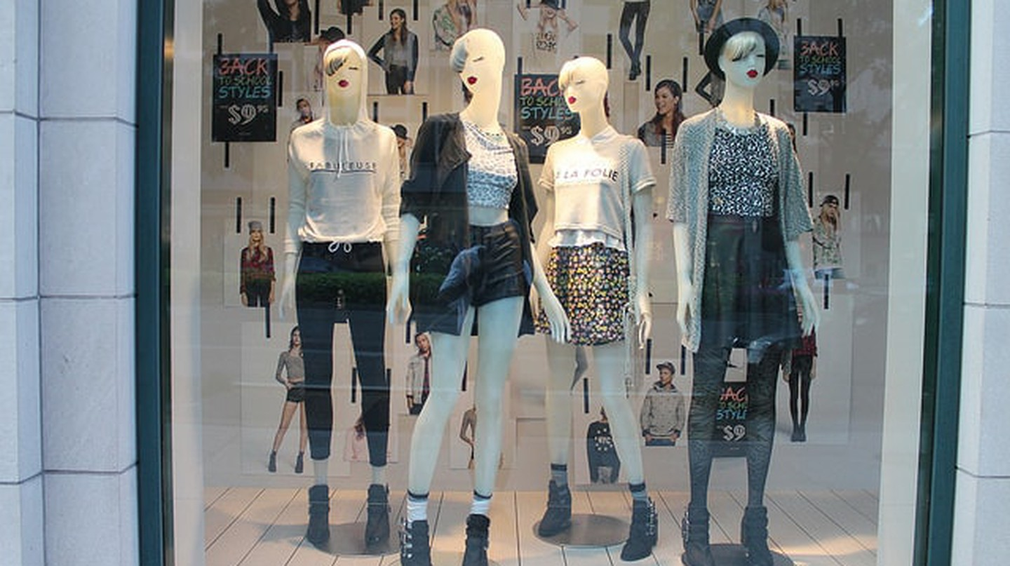 A storefront at H&M in Washington, D.C.'s Gallery Place