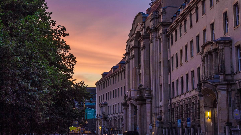 Beautiful sunset in Mitte, Berlin