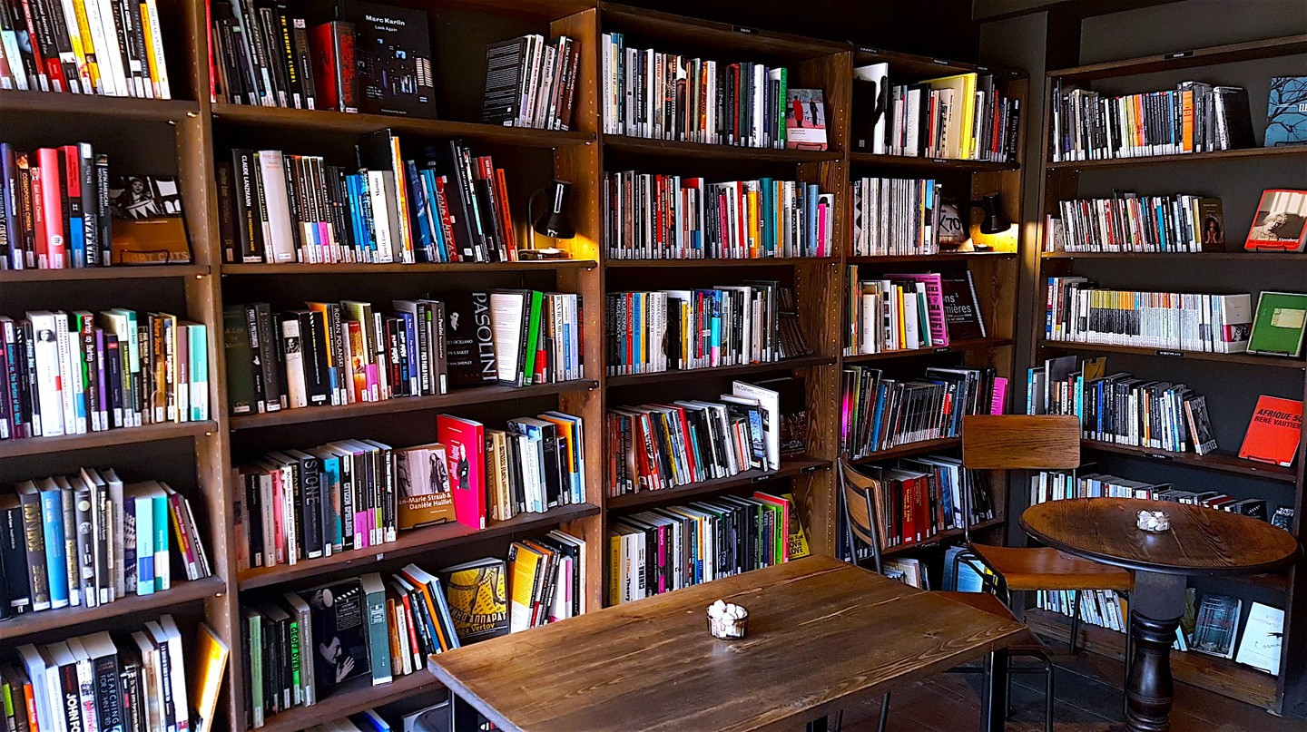 Coffee and books at Close-Up Film Centre