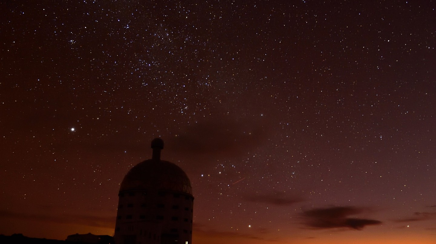 Sutherland Observatory at night