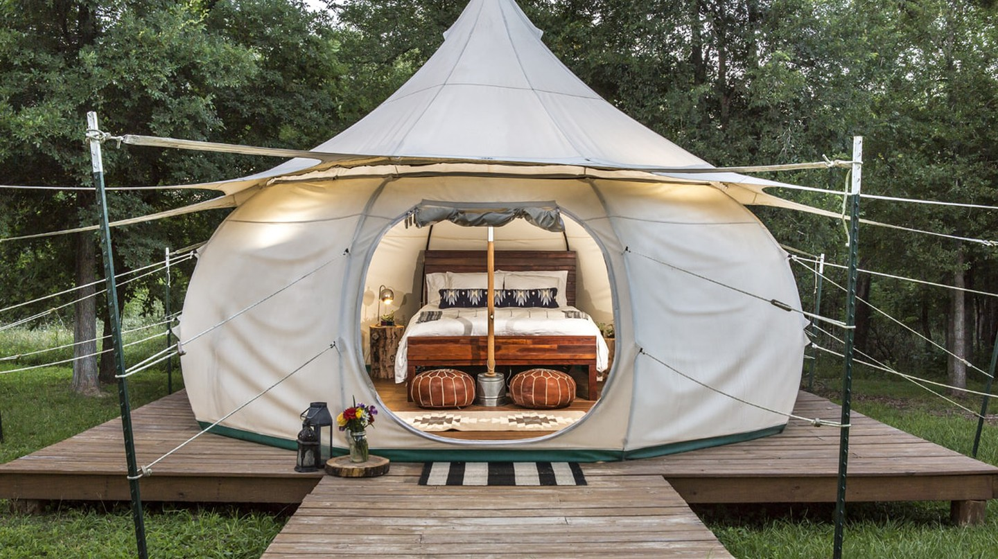 Glamp and commune with nature in a yurt at Green Acres.
