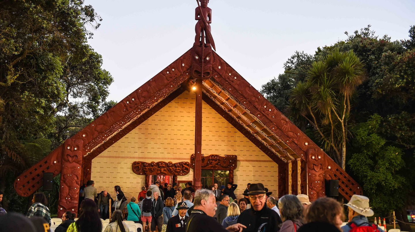 Waitangi Day dawn ceremony at the Waitangi Treaty grounds