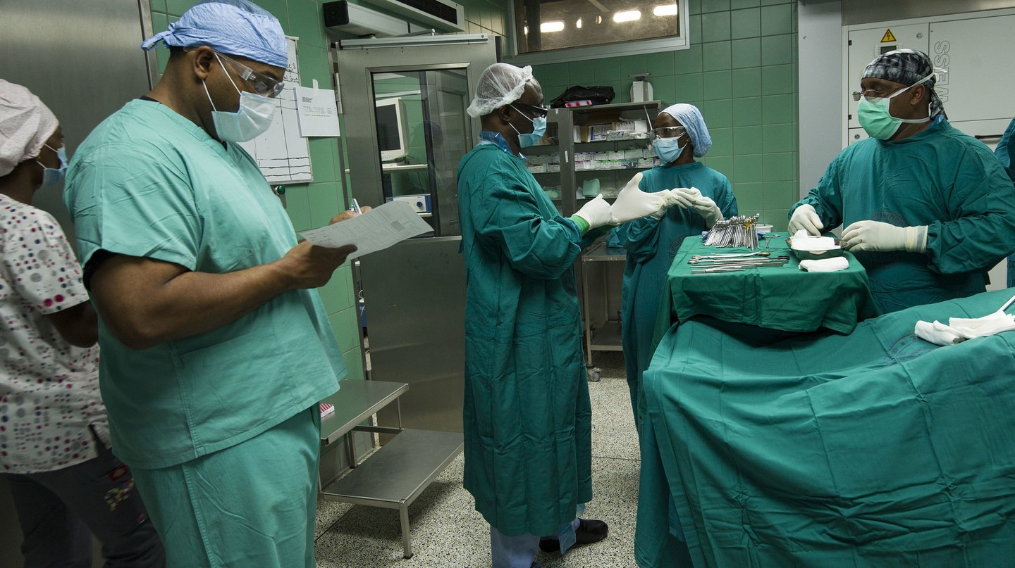 Nurses Conducting a Medical Readiness Training Exercise in Ghana