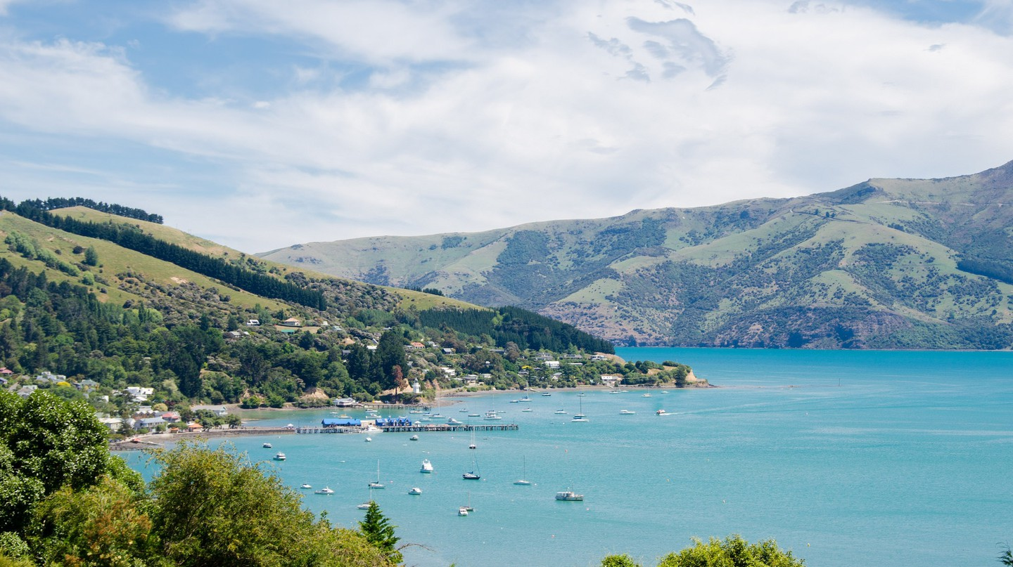 View of Akaroa and the Banks Peninsula